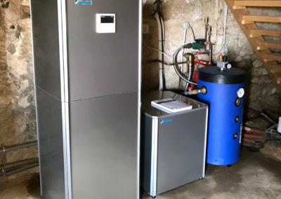 Remplacement de chaudière fioul + chauffe eau thermodynamique - Air Climatisation Energie